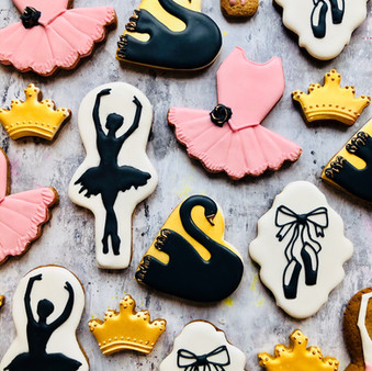 Ballet themed biscuits