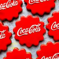 Coca-Cola bottle lid hand iced biscuits