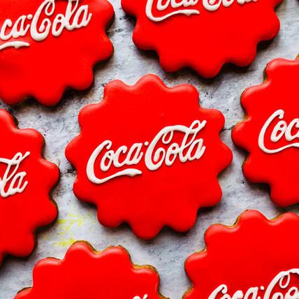 Coca-Cola bottle lid hand iced biscuits