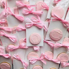 Pink hand iced tennis balls for Boodles Tennis