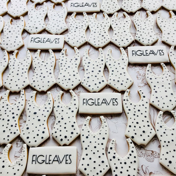 Iced biscuits for Figleaves Spring/Summer 2019 Swimwear launch - hand iced