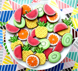 Tropical fruit biscuits