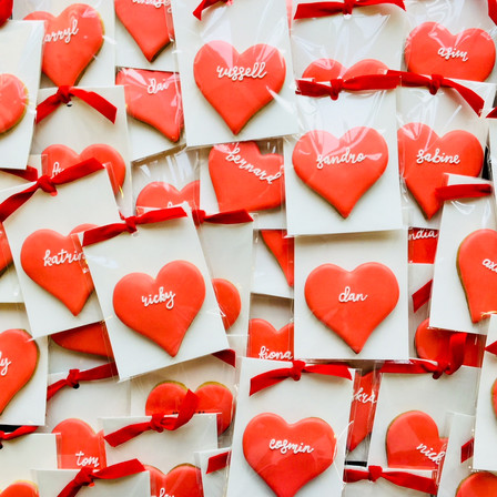 Pretty personalised hearts ...