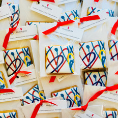 Bespoke biscuit favours for an Elizabeth Arden event - printed icing