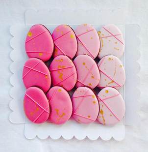 Ombre, geometric egg iced biscuits - a lovely Easter gift