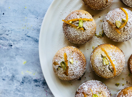 Totally delicious pistachio and orange friands