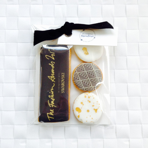 Bespoke biscuits for the British Fashion Awards - printed icing
