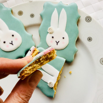 Gender reveal iced biscuits