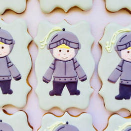 Knight iced biscuits for Samuel