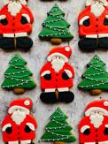 Father Christmas and fir trees