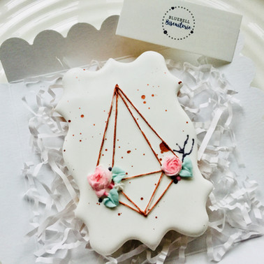 A little terrarium iced biscuit gift ...