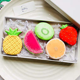 Our fruit salad biscuits - hand iced