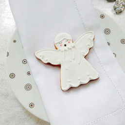 Christmas angel biscuit