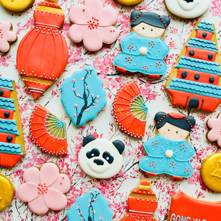 Hand iced biscuits celebrating Chinese New Year