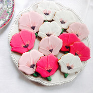 A box of pretty poppy handiced and handpainted biscuits
