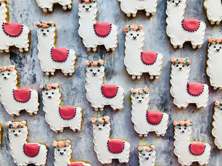 Cute alpaca themed biscuits