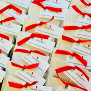 We can get gift tags printed for you and attach them to your corporate biscuits ...