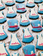 Personalised Alice in Wonderland and Mad Hatter biscuits