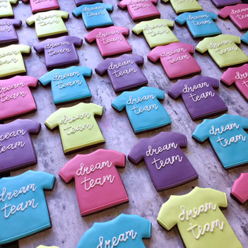 Dream Team t shirt hand iced biscuits for Amazon