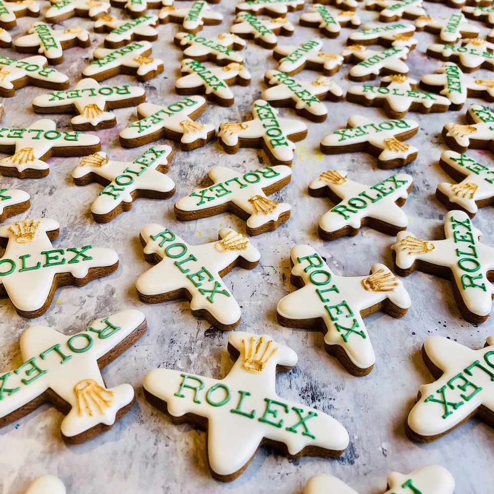 Aeroplane biscuits for a Rolex Sky-Dweller shopping event