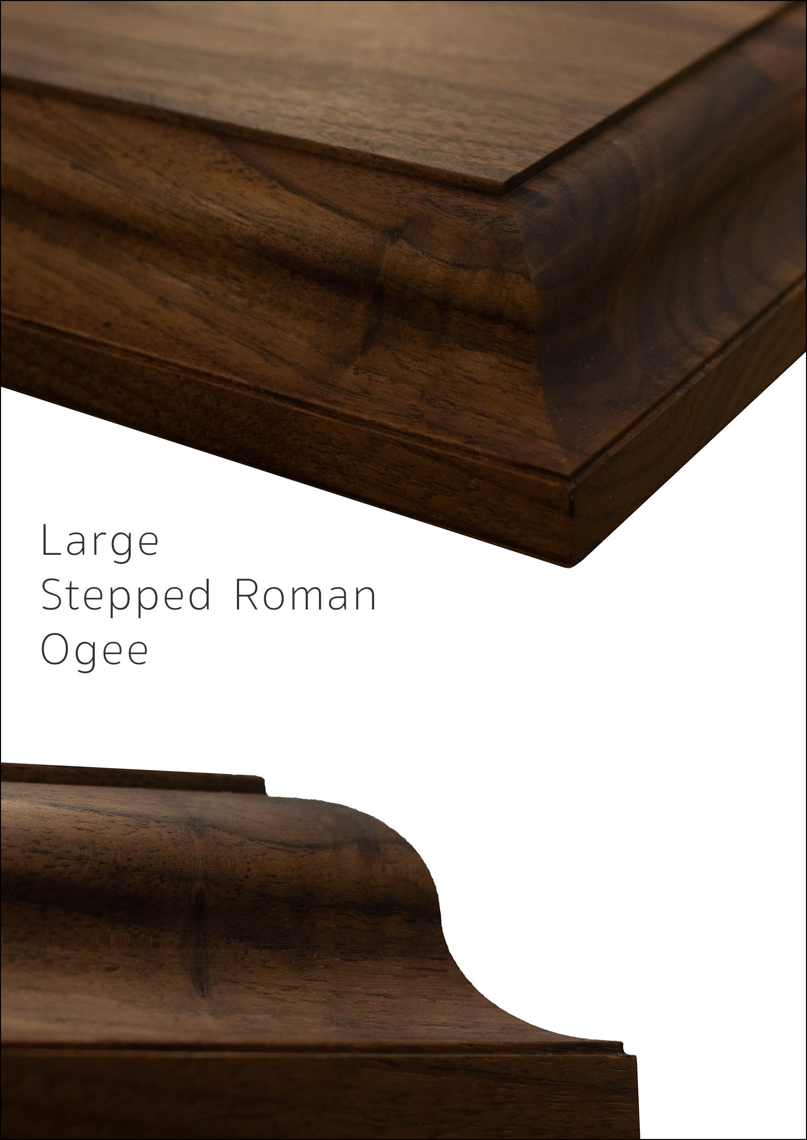 Large Stepped Roman Ogee