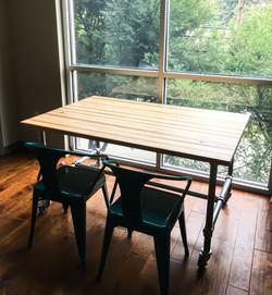 Edge Grain Hickory Table