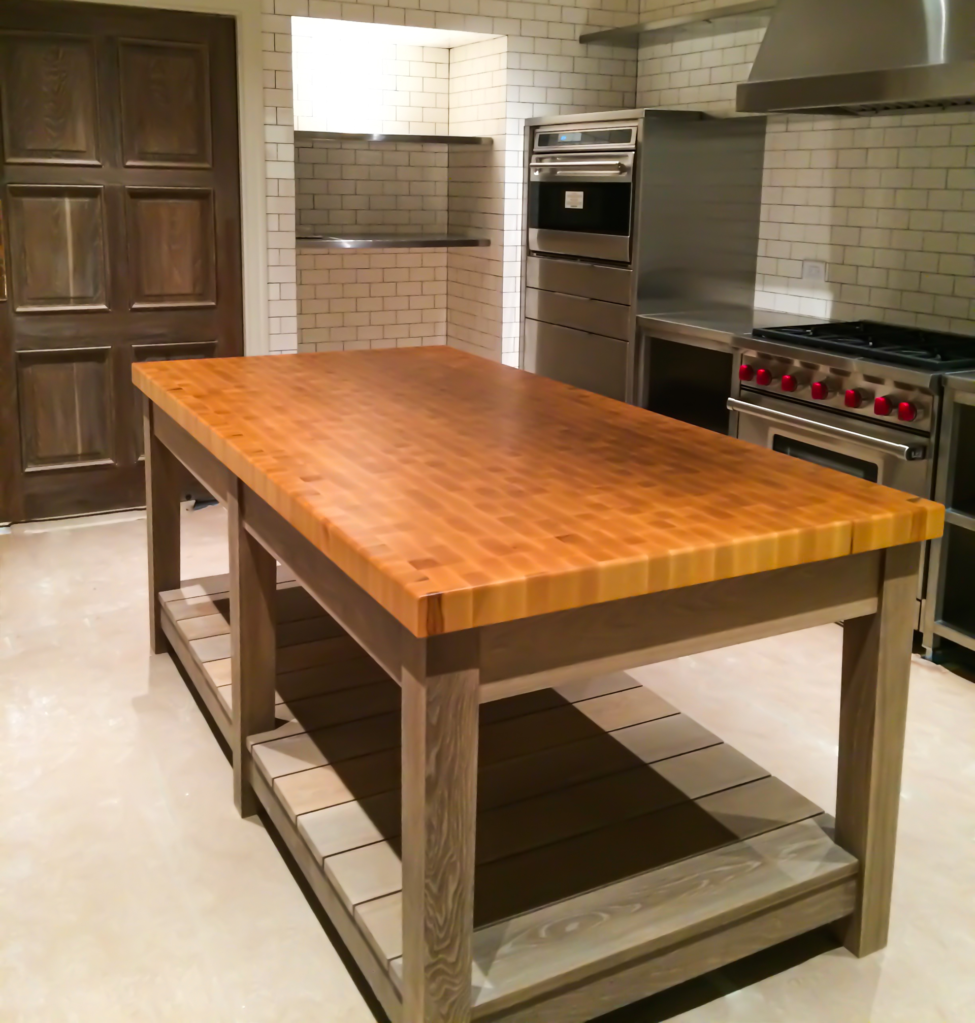 End Grain Maple Island