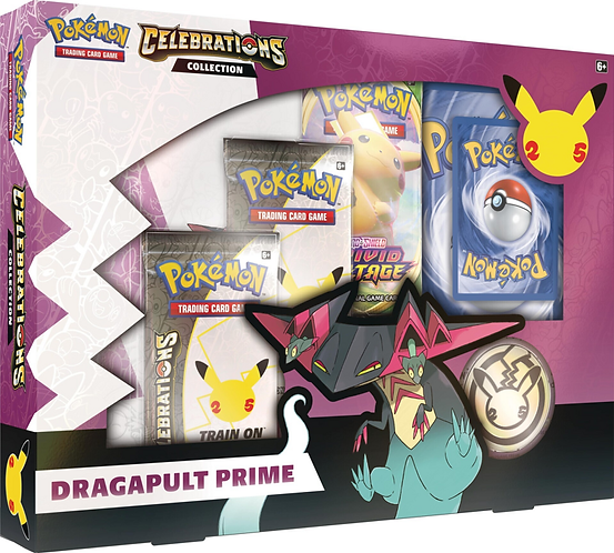 Pokémon 25th Anniversary : Celebrations Dragapult Prime Box