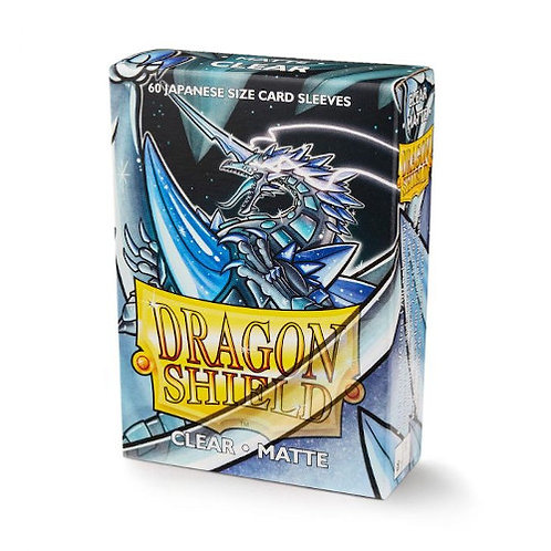 Dragon Shield - Japanese Matte Clear Sleeves (60 pack)