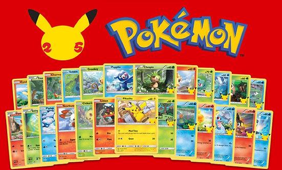 Pokémon 25th Anniversary McDonalds Promo Cards