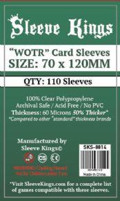 Sleeve Kings - 70 x 120 Sleeves (110 Pack) - Booster Pack Sleeves