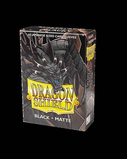 Dragon Shield - Japanese Matte Black Sleeves (60 pack)