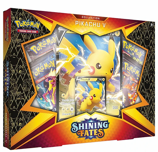 Pokémon Shining Fates Pikachu V Collection Box