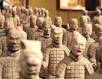 Statue di guerrieri cinesi