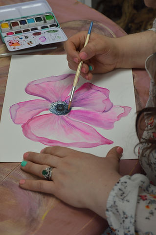 Angela Painting Watercolors