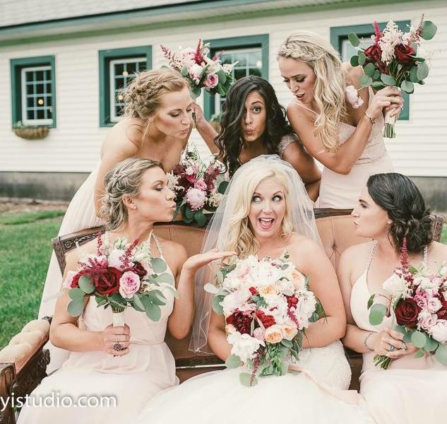 Bridesmaids at the Barn Perona Farms