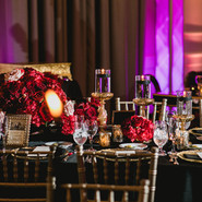 Luxury Centerpiece with Black Candles