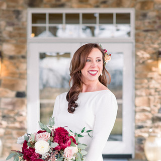 Bride at the entance of Bear Brook Valley NJ