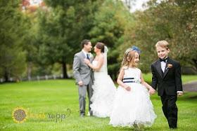 Olde Mille Inn Orange and White Wedding