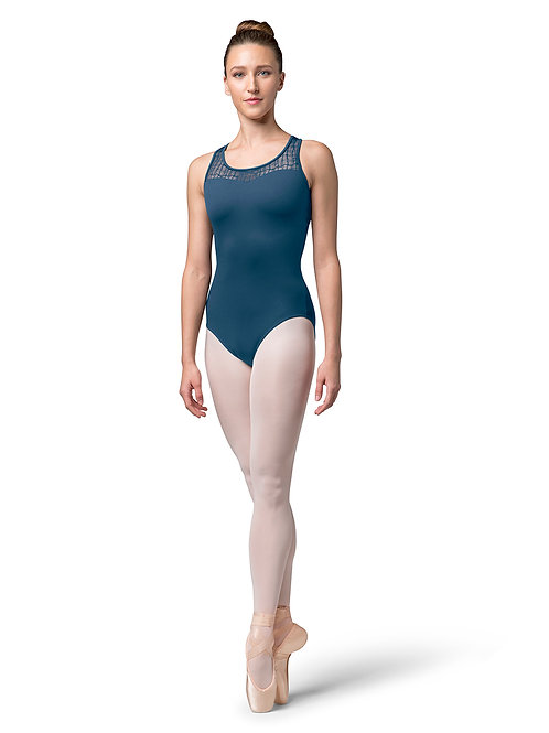 Bloch Check Mesh X-Back Tank Leo L4805