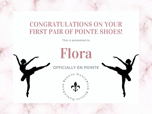Flora - Remaining Pointe Shoe Balance