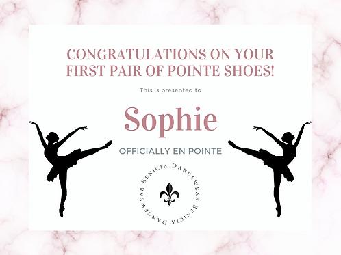 Sophie - Remaining Pointe Shoe Balance
