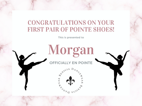 Morgan - Remaining Pointe Shoe Balance