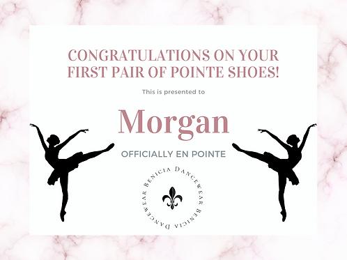 Morgan - Remaining Pointe Shoe Balance