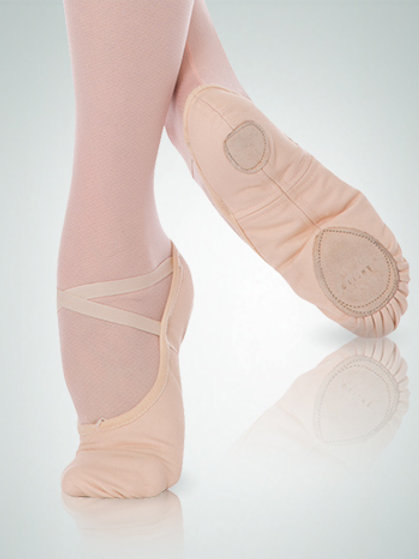 Body Wrappers 246A TotalSTRETCH Canvas Ballet Slipper