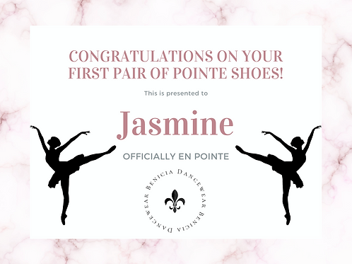 Jasmine - Remaining Pointe Shoe Balance