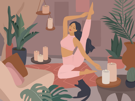 5 Yoga Poses You Can Do While Watching Netflix!