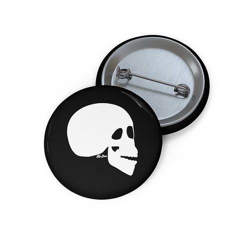 The Skull - Black Pin Buttons