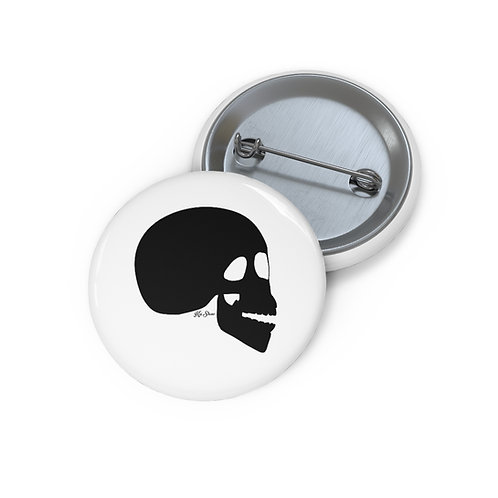 The Skull - White Pin Buttons