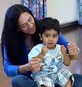 "Nikhil Baby Signs ""car"" with his mummy."